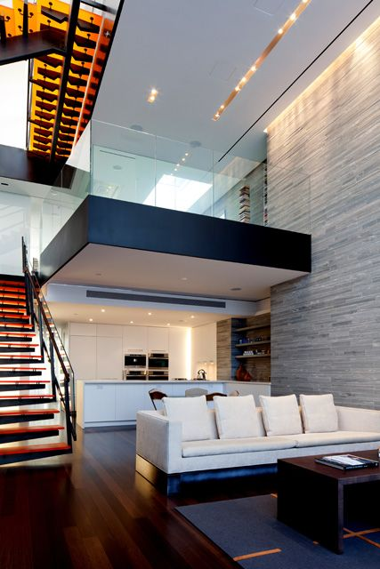 73rd Street Penthouse / Turett Collaborative Architects #stairs #wall #black