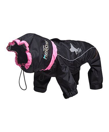 Love this Black Weather-King Windproof Full-Body Pet Jacket on #zulily! #zulilyfinds
