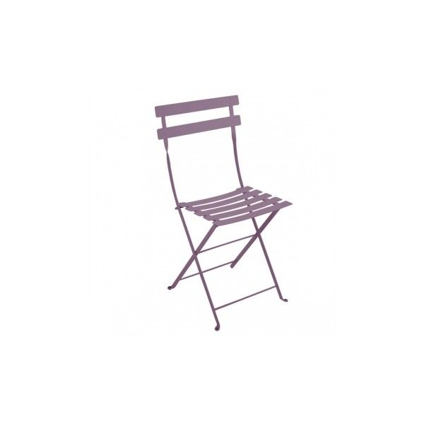 Fermob Bistro Metal Chair, Plum ($74) ❤ Liked On Polyvore Featuring Home,  Outdoors, Patio Furniture, Outdoor Chairs, Folding Metal Bistro Chairs,  Metal ...