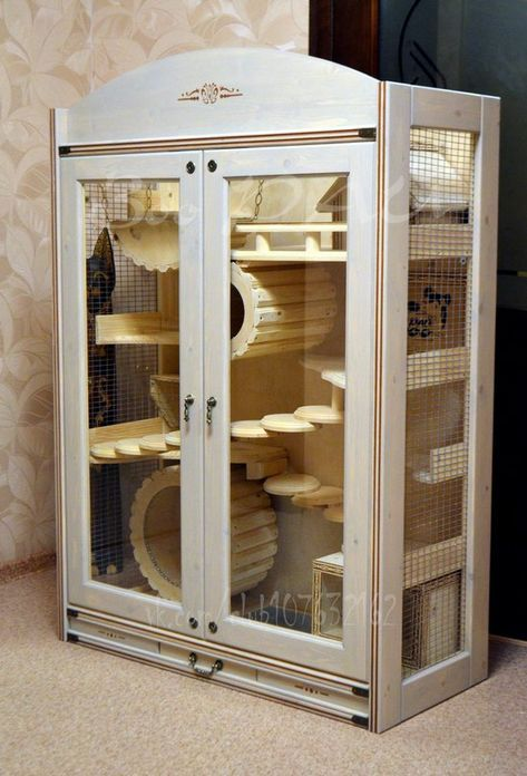 Large Wooden Chinchilla Cage