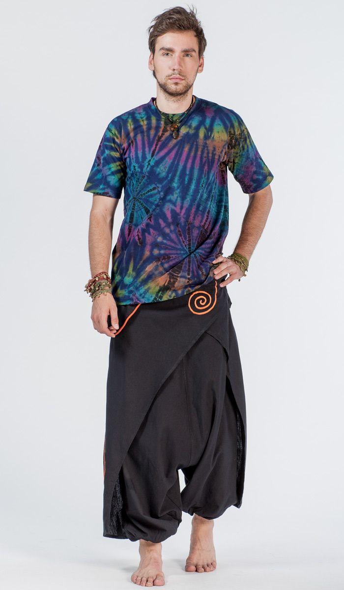 Мужские штаны непальские для восточных практик. Шаровары с оригинальным дизайном.  nepal men's pants  1840 рублей http://indiastyle.ru/products/shtany-nepalskie-dhaulagiri
