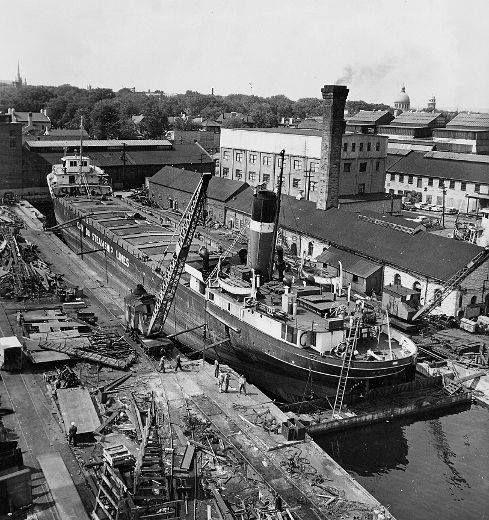 Dry dock, Kingston 1950s.