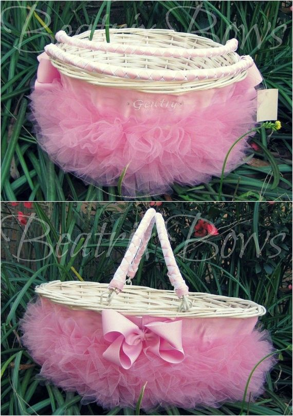 30 best for the goddaughter images on pinterest photo books willow wicker easter baskets personalized tutu easter basket diy easter craft ideas easter negle