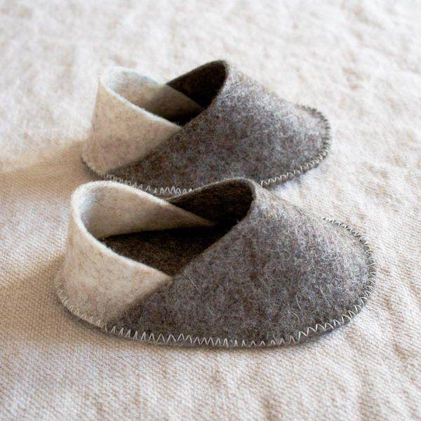 Chaussons en feutre / Felt slippers