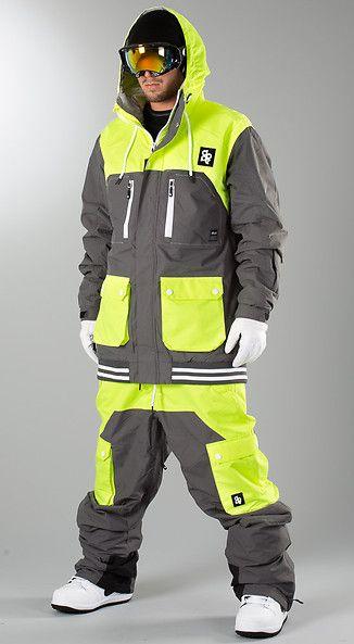 Dope - Aphex Snow Jacket Dark Grey/Neon Yellow - Ridestore.com