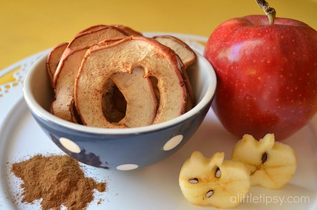Baked Apple Chips- so easy and way less expensive than those pricey tiny bags you can buy at the grocery store.
