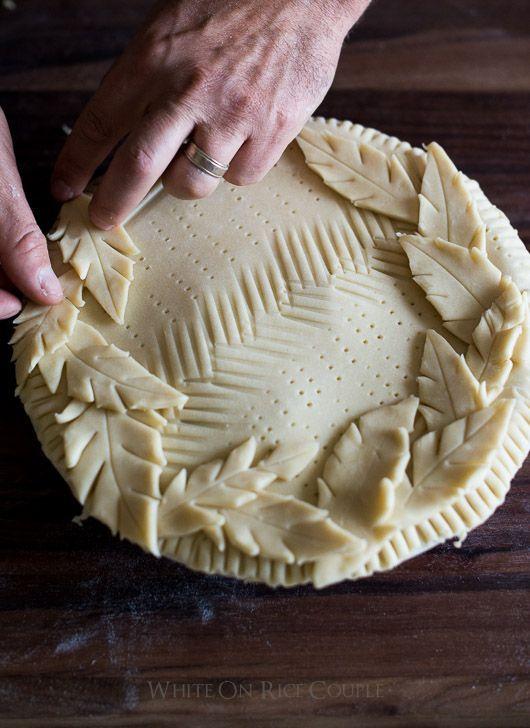Décoration de tarte feuilles - 13 belles idées pour sublimer une tarte classique - Elle à Table