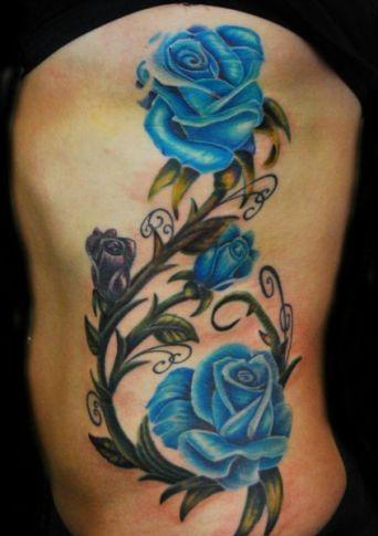 Татуировка синяя роза значение