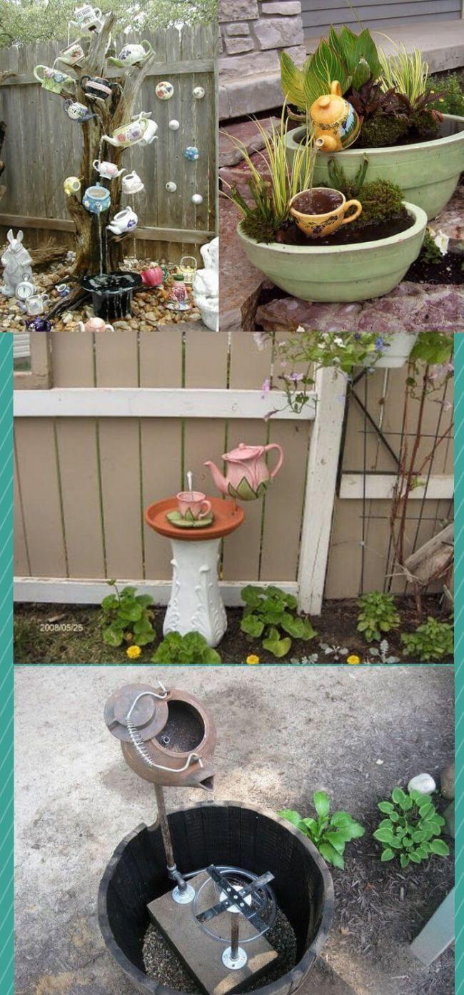 Diy Garden Teapot Art Decor How To Make Teapot Garden Art Gartenkunst Diy Garden Garten