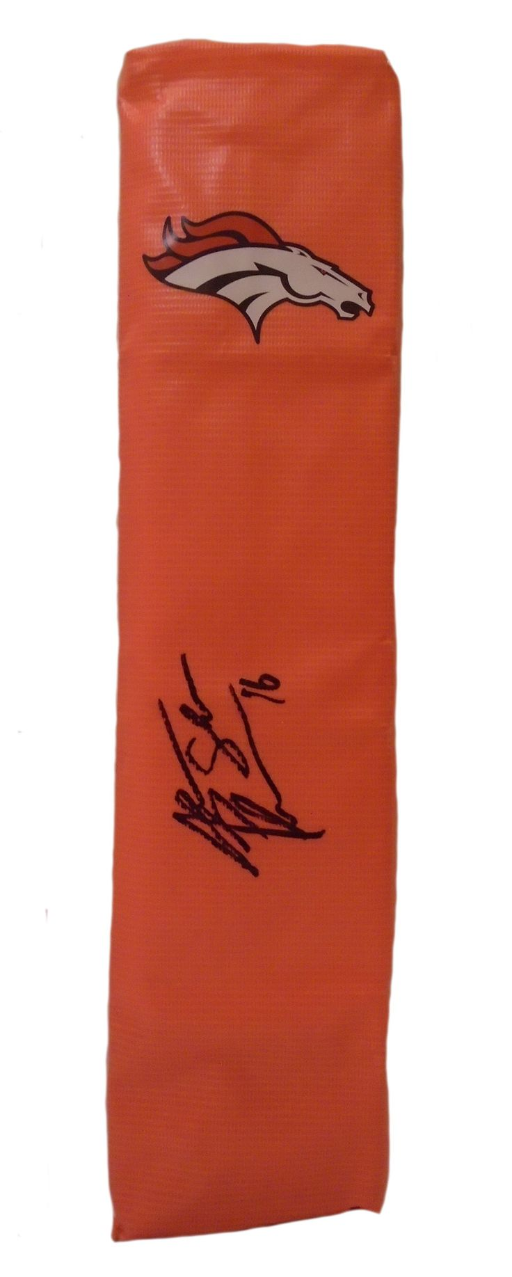 "Jake ""The Snake"" Plummer signed Denver Broncos full size football touchdown end zone pylon w/ proof photo. Proof photo of Jake signing will be included with your purchase along with a COA issued from Southwestconnection-Memorabilia, guaranteeing the item to pass authentication services from PSA/DNA or JSA. Free USPS shipping. www.AutographedwithProof.com is your one stop for autographed collectibles from Denver sports teams. Check back with us often, as we are always obtaining new items."