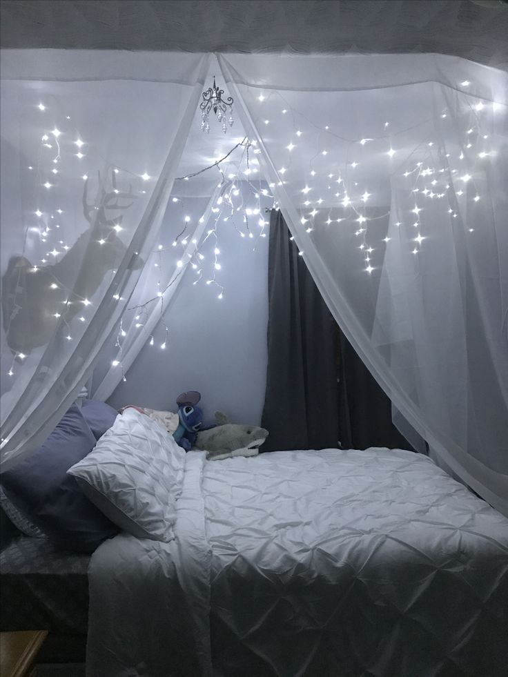 Twinkling Lights Above A Bed ️ In 2020 Dream Rooms Bedroom Decor Room Decor