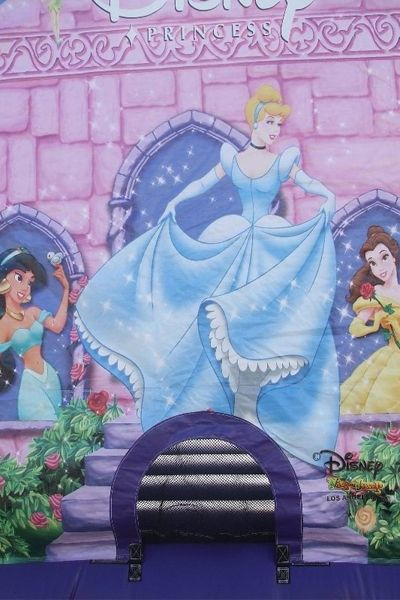 Front of Disney Princess Bouncy Castle  #bouncy #castles #Disney #princess #inflatables #kids #toys