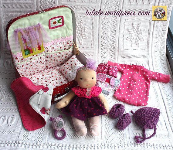Waldorf baby doll ready to ship / OOAK 11 rag baby doll