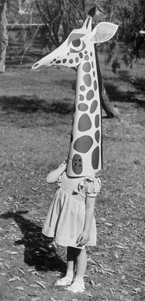 Giraffe head toy by Charles Eames, photo: Allan Grant, 1951- LIFE  via boggle:pjmix