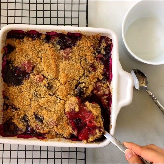 New on JustaTaste.com: My Easy Mix-and-Match Fruit Crumble recipe template allows you to transform any combination of fruits into the ultimate dessert! (Link in bio.) #justatasterecipes