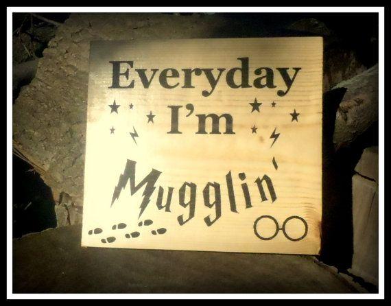 Kitchen Sign Harry Potter Everyday I'm by BPLaserEngraving on Etsy