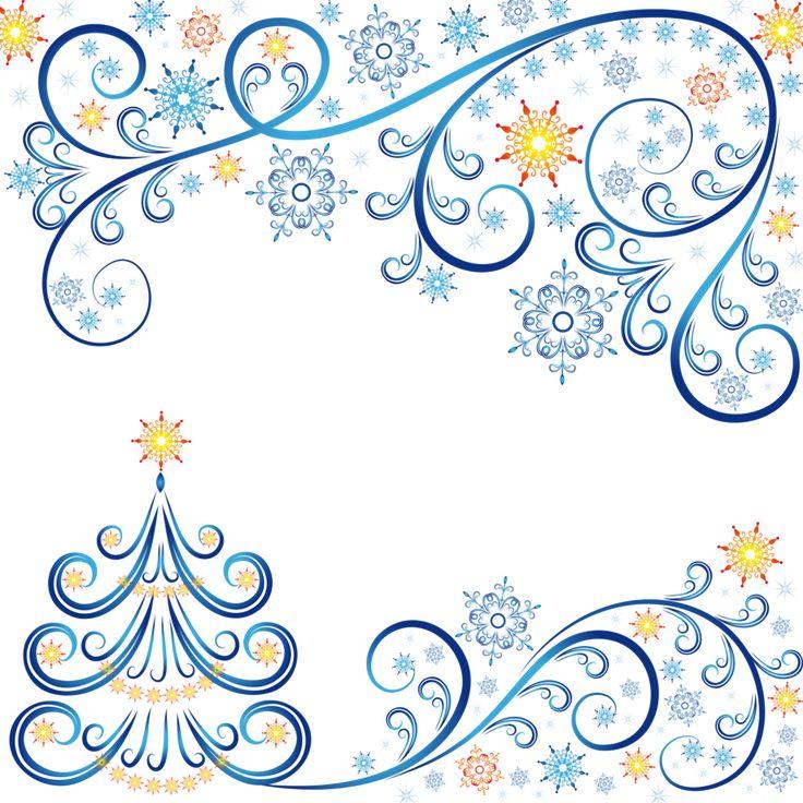 Fond - Paper - Background - Printable - Frame - Christmas - Noël - Blue