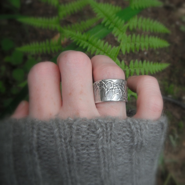 Cathedral Ring- Medieval Ring- Artisan Handcrafted with Recycled Fine Silver. $92.00, via Etsy.