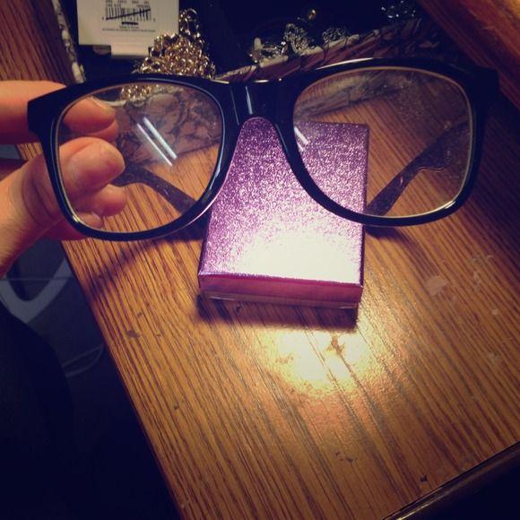 Fake glasses  Cute!!! Black Accessories Glasses