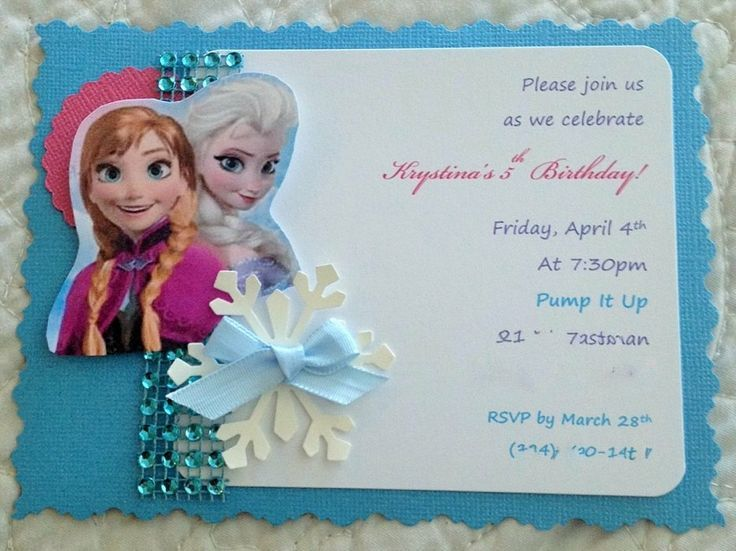 Ide Undangan Disney Frozen Unik Di Pinterest Undangan Gambar - Birthday invitation frozen theme