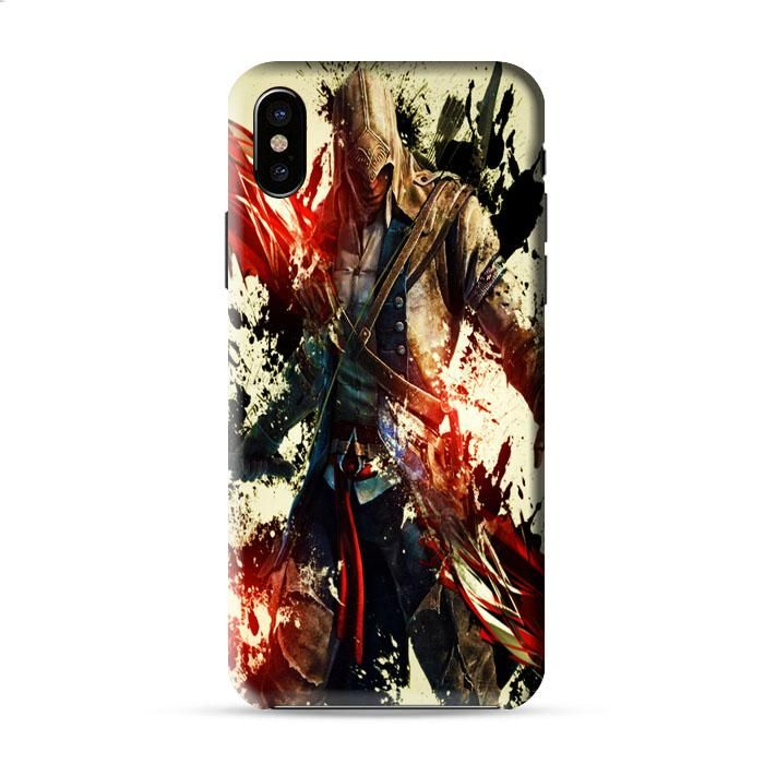 Assassin'S Creed 3 Paint Splat Red Black Iphone X 3D Case Caseperson