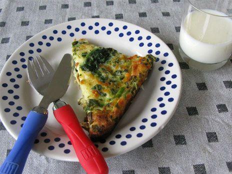 Ugnspannkaka med spenat och ost | Recept från Köket.se