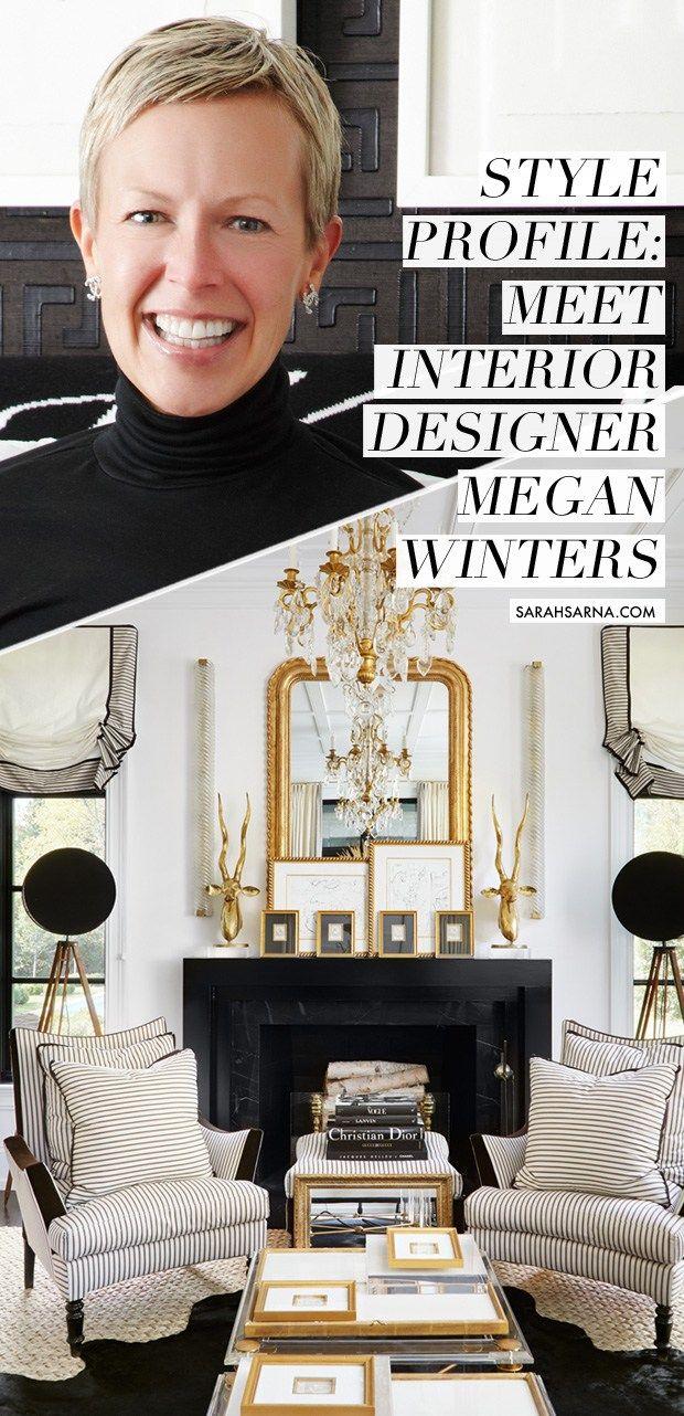 Meet Megan Winters, Lake Forest, Illinois-based interior designer, and a Parisian chic salon style Living Room of her design, via @sarahsarna.