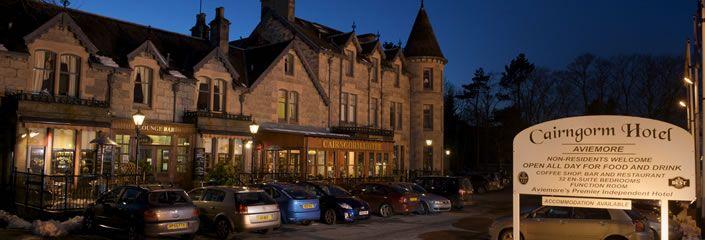 Caingorm Hotel, Aviemore, Scotland (restaurant has good haggis)