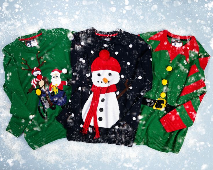 Make it festive with our range of colourful Christmas jumpers