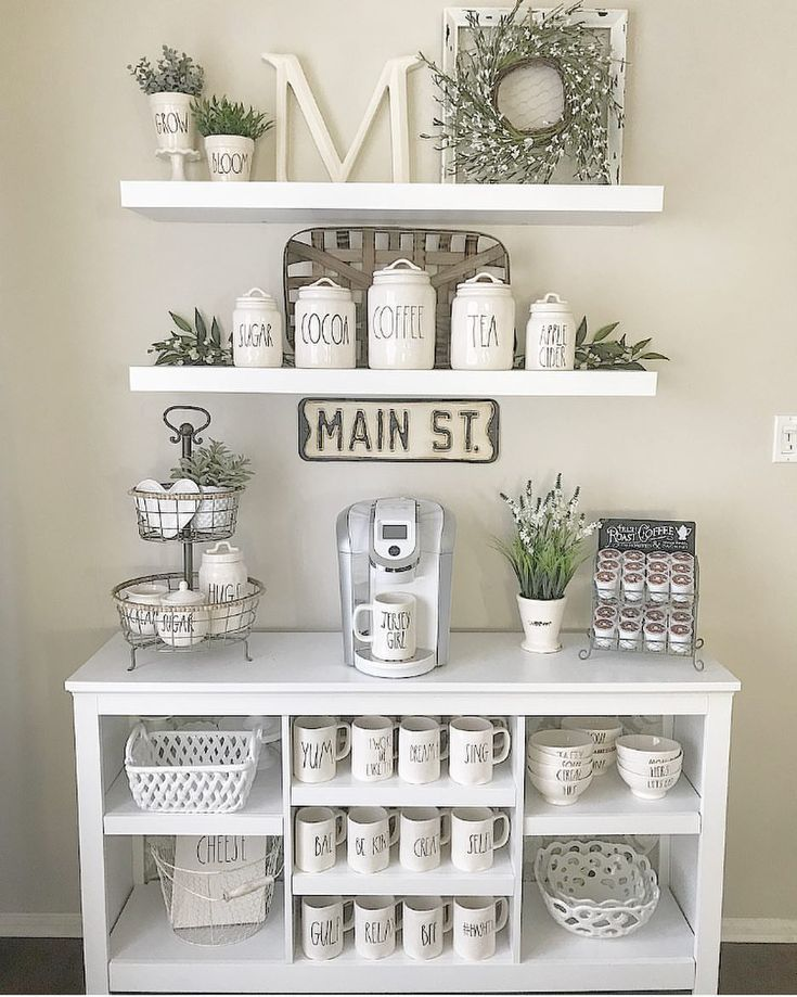 Small Coffee Station I Home Office Coffee Bar Coffeestation Coffeebar Homedecorideas Coffee Bar Home Home Coffee Stations Diy Coffee Bar