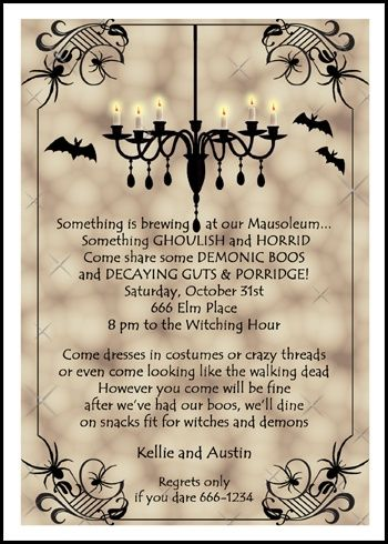 Scary Halloween Party Invitation Template orderecigsjuiceinfo