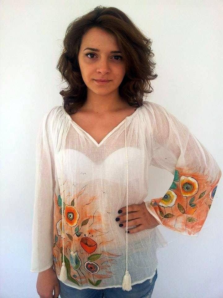 La blouse en mousseline , hippie,boho,romantique : Chemises, blouses par mireille50