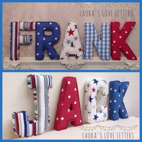Fabric-letters-Wall-Art-Handmade-Padded-Nursery-name-personalised-girl-boy
