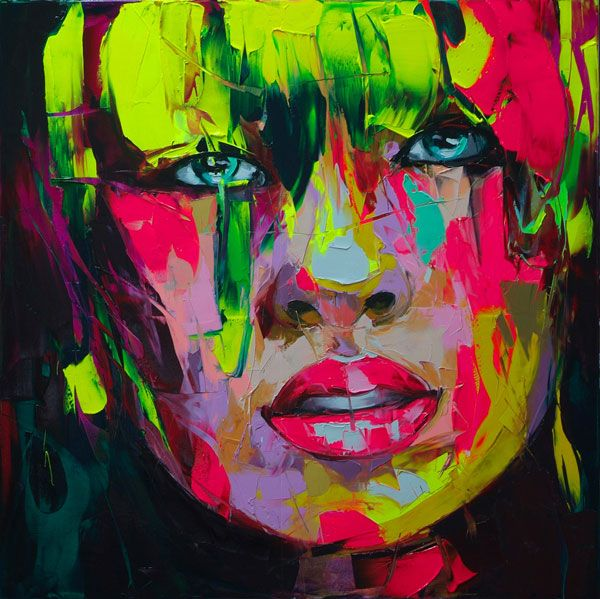 Painted with a palette knife by French painter Francoise Nielly