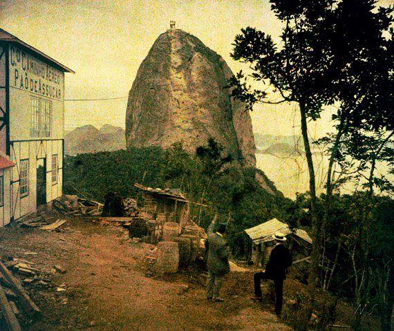 """O Pão de """"Assucar"""", nas lentes de Marc Ferrez,1914! Colorido pelo Photochrome dos irmãos Lumiere!"""