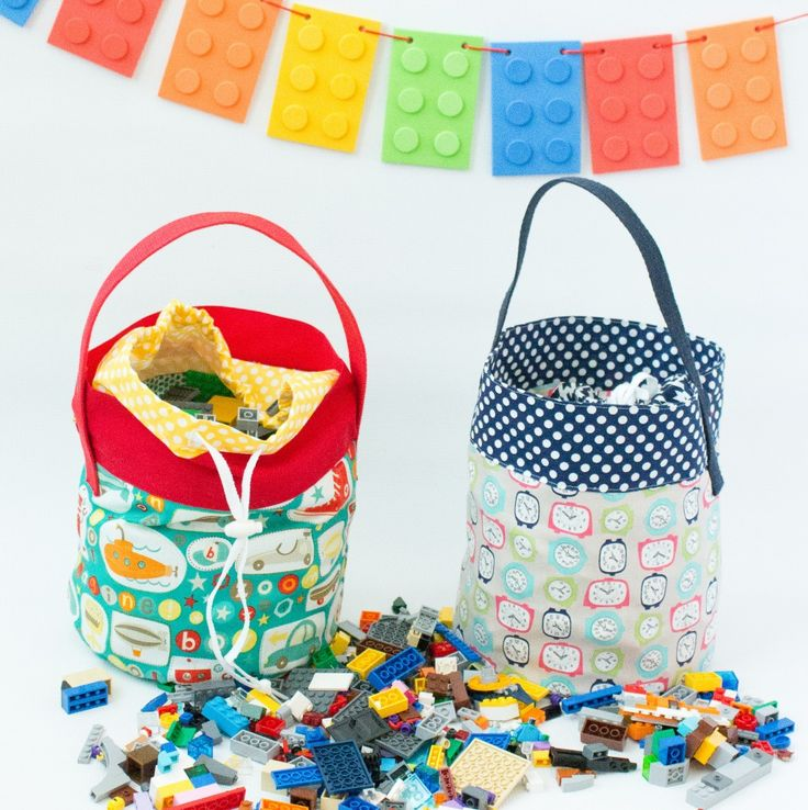 Lego Bucket Pattern FREE from Crazy Little Projects