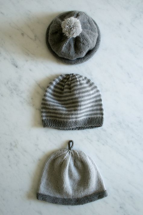 Whit's Knits: Line Weight Hats for Newborns - Purl Soho - Knitting Crochet Sewing Embroidery Crafts Patterns and Ideas!