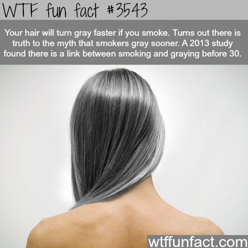 Damn it... 5 years smoke free and my hair is still turning grey.....