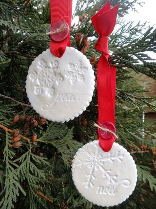 I love the idea of using stamps on clay to make ornaments.