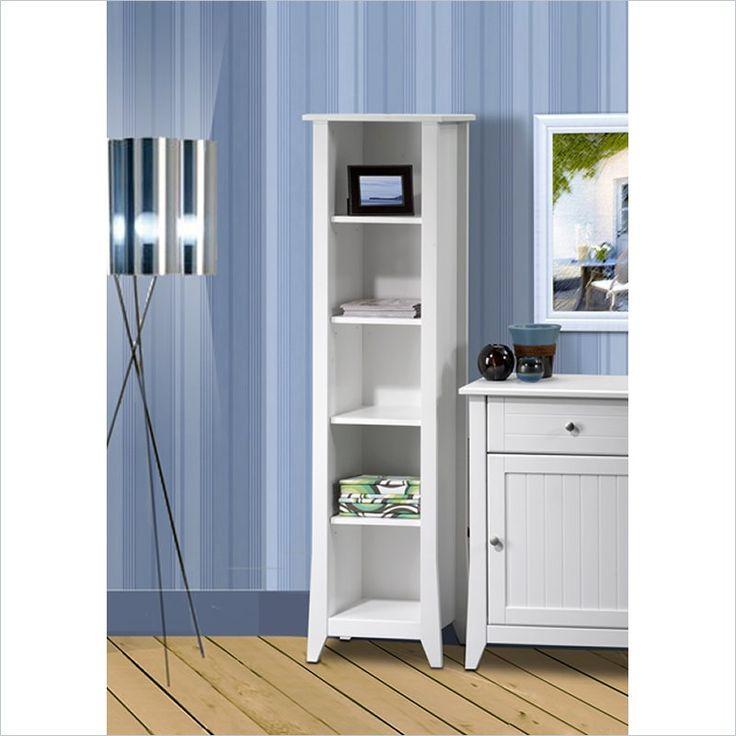 "Nexera Vice Versa 60"" Slim Bookcase in White - 200203 - Lowest price online on all Nexera Vice Versa 60"" Slim Bookcase in White - 200203"