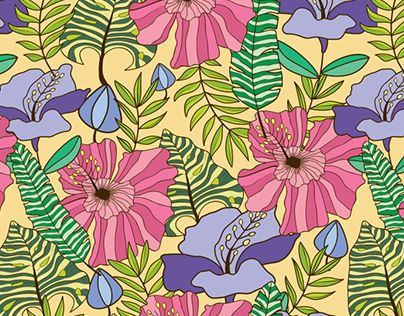 """Check out new work on my @Behance portfolio: """"Flowers and Leaves Pattern Design"""" http://be.net/gallery/63192875/Flowers-and-Leaves-Pattern-Design"""