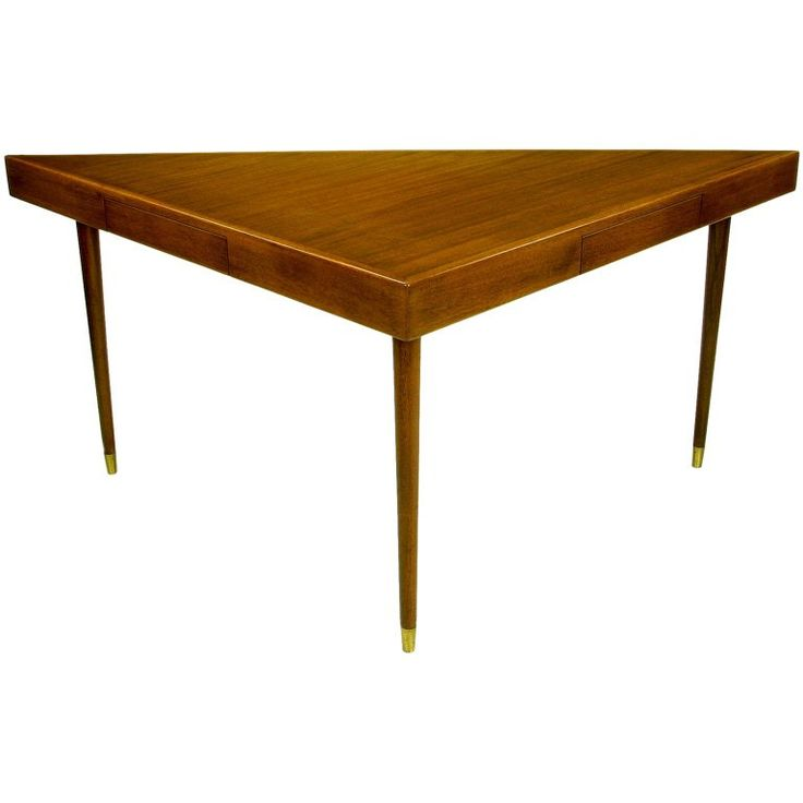 Triangular Sofa /Writing Table In Walnut By Harvey Probber 1