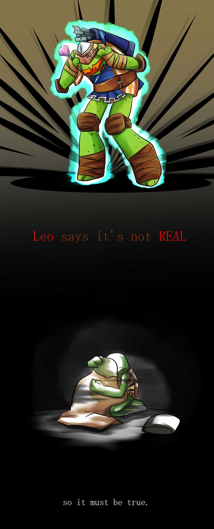 Leo Says It's Not Realeth by Ren-Rin on deviantART