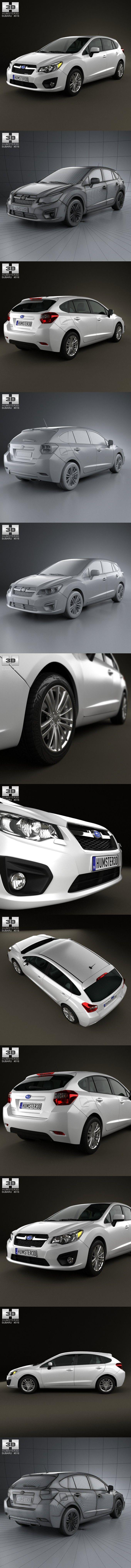 Subaru Impreza hatchback 2012. 3D Vehicles
