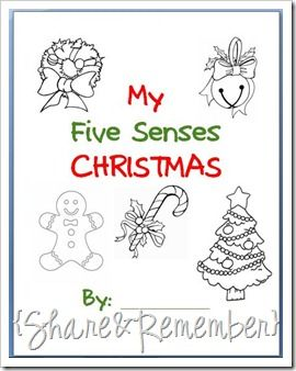 Share & Remember: My 5 Senses Christmas booklet |Printable pages & patterns