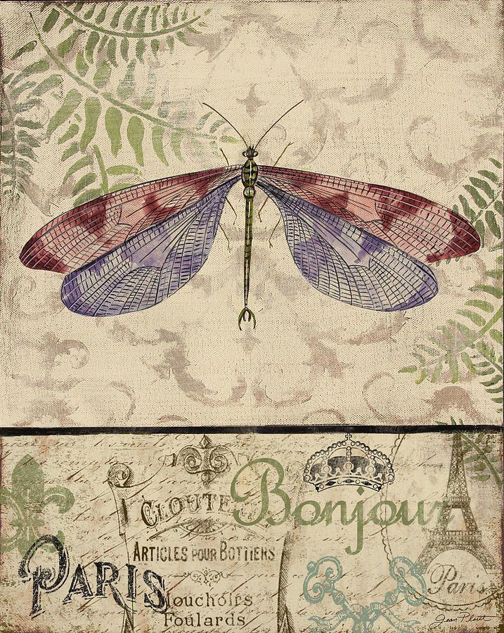 Vintage Wings-paris-f Painting