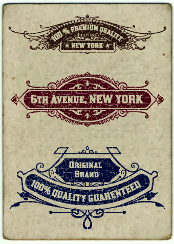 Vintage labels design vector set 01