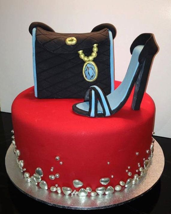 Shoe Cake Handbag Cake Women's Ladies Birthday Cake, Noosa Sunshine Coast Cake Shop, Made to Order with Delivery