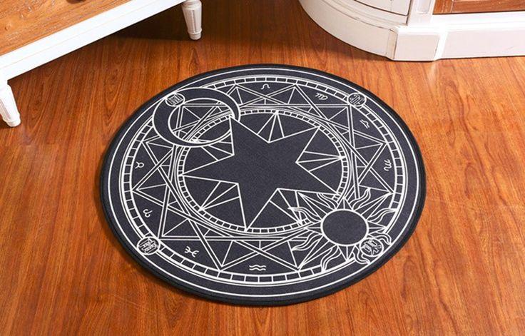 Kids Bedroom Carpet Cartoon Pink Sakura Magic Circle Children Round Play Carpet Computer Chair Hanging Basket Puzzle Mats