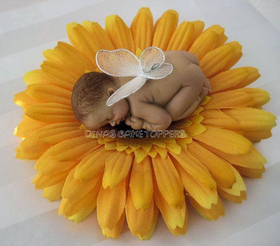 Butterfly Wings Baby Fondant Gum Paste Cake Topper